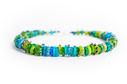lemon and lime drizzle necklace