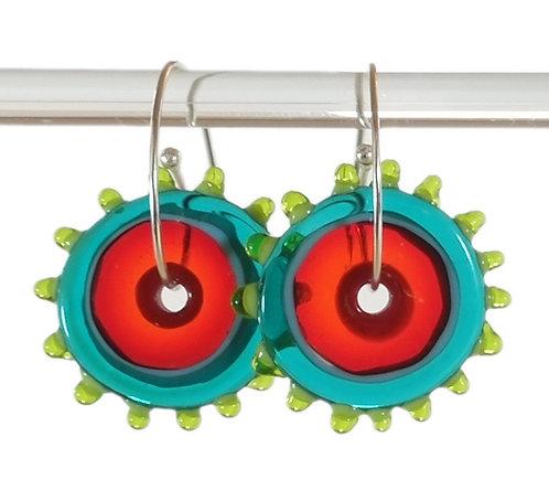 whirly gig earring