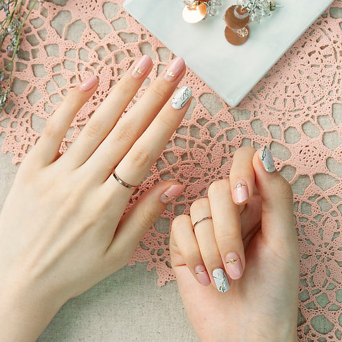 45427. Warm Pink French Marble