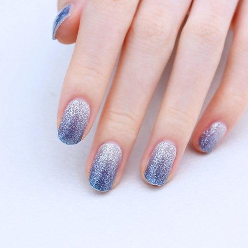 45120. Glitter Blue Silver Gradation