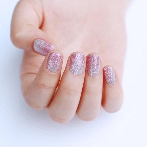 45088. Glitter Pink Silver Gradation