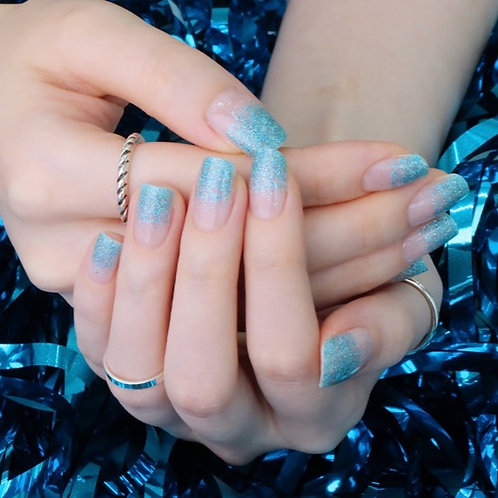 45626. Glitter Blue Gradation
