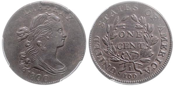 Nr. 1350: USA. 1 Cent 1800/79.  Taxe: 1000,– Euro