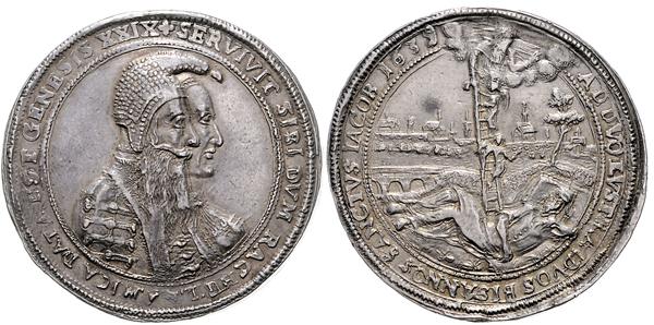 Nr. 1553: HAUS HABSBURG. Ferdinand III. Doppelter Schautaler 1639. Taxe: 8000,– Euro