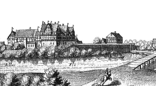Schloss Ahlden, Merian-Stich