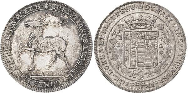 Nr. 3973: STOLBERG-WERNIGERODE. Christian Ernst (1710–1771). 1/2 Taler 1738, ILG, Stolberg. Friederich 1406. Seltenes und prachtvolles Exemplar. Selten in dieser Erhaltung. Winz. Schrötlingsfehler am Rand. Fast Stempelglanz. Taxe: 1600,– Euro