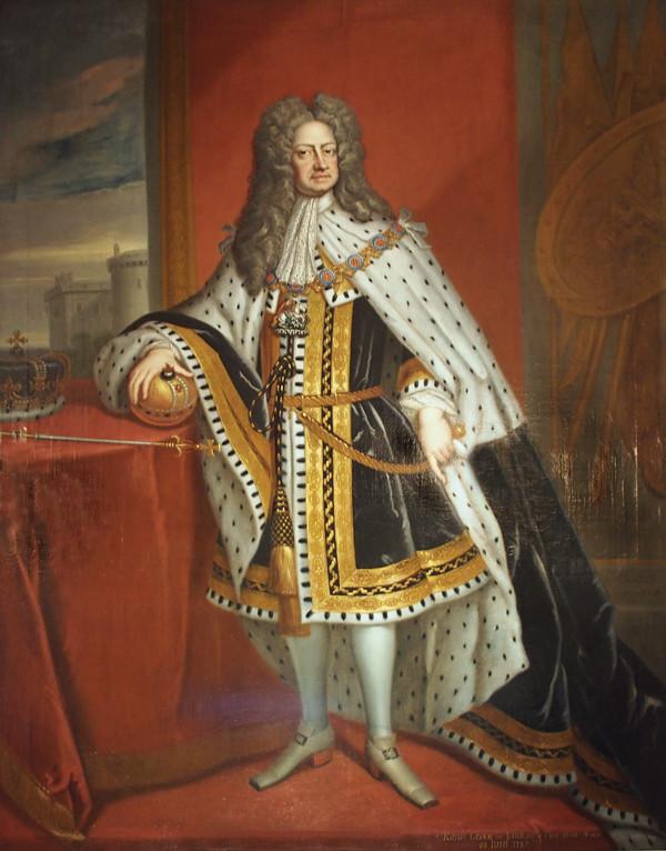 Georg I. im Krönungsornat