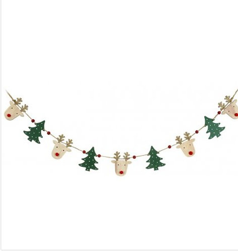 Wooden Reindeer/ Tree Bunting
