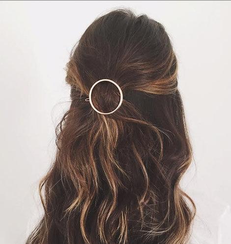 Circle Hair Clip Gold colour