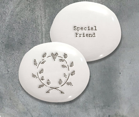 East of India Porcelain Pebble Special Friend