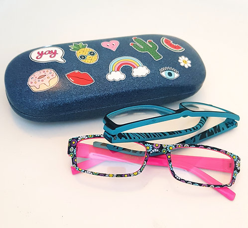 Sass & Belle Patches and Pins Glasses Case