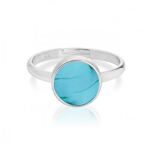 Joma Jewellery Turquoise Silver Ring/ Free Spirit