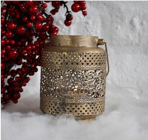 Ornate Metal Lantern Bronze