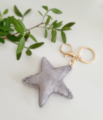 Velvet Star Bag Charm/ Key ring 2 Colours Available
