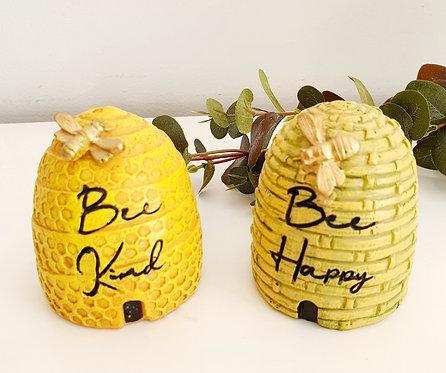 Beehive Ceramic Ornament 2 Assorted