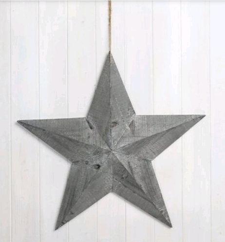 Greywashed Wooden Barn Star 39CM
