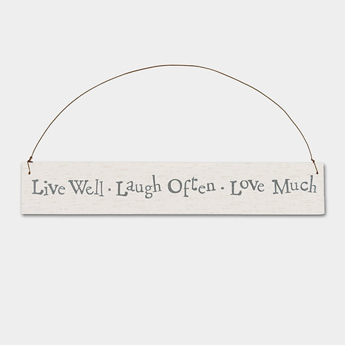 East of India 'Live well Laugh Often Sign