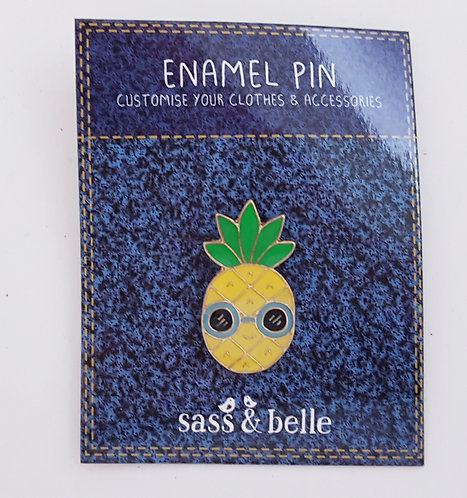 Sass And Belle Enamel Pineapple Brooch