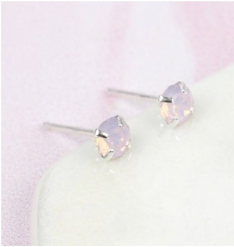 Rose Water Swarovski Crystal Stud Earrings