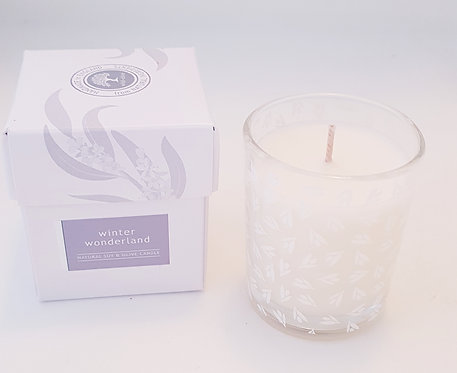 Wild Olive Small Glass Candle-Winter Wonderland