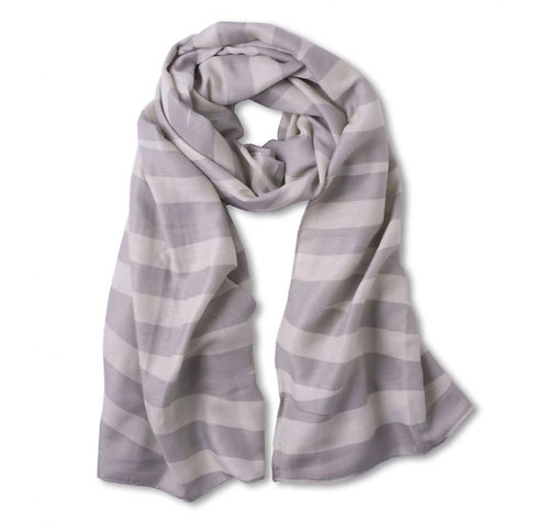 Katie Loxton Scarf - Pale Grey and Biscuit Beige