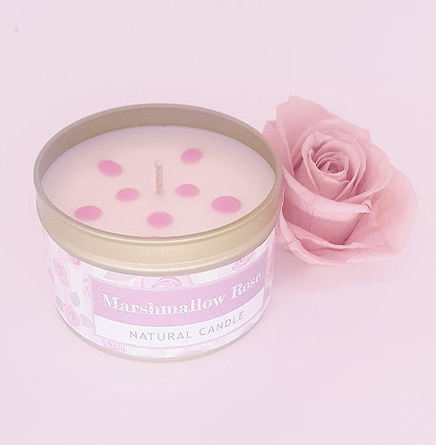 Wild Olive Small Tin Candle Marshmallow Rose