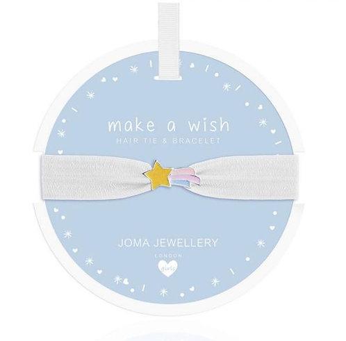 Joma Jewellery Girls Hair Tie & Bracelet Make A Wish