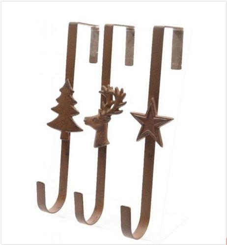 Iron Festive Wreath Hanger Assorted