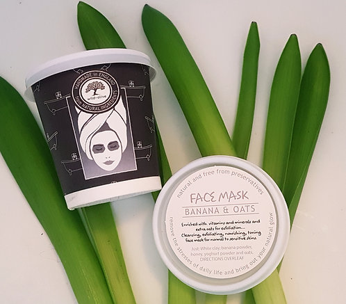 Wild Olive Banana & Oats Face Mask