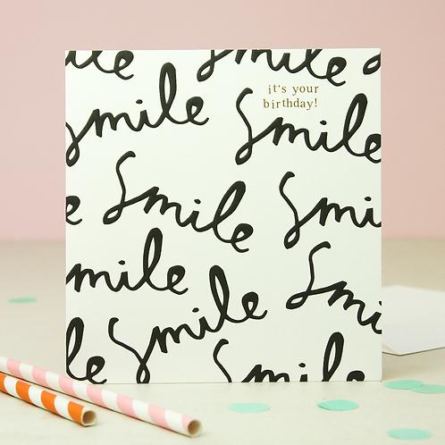 Birthday Card - Smile By Caroline Gardner
