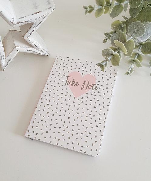 A6 Spotty Notebook Take Note/ Big Ideas