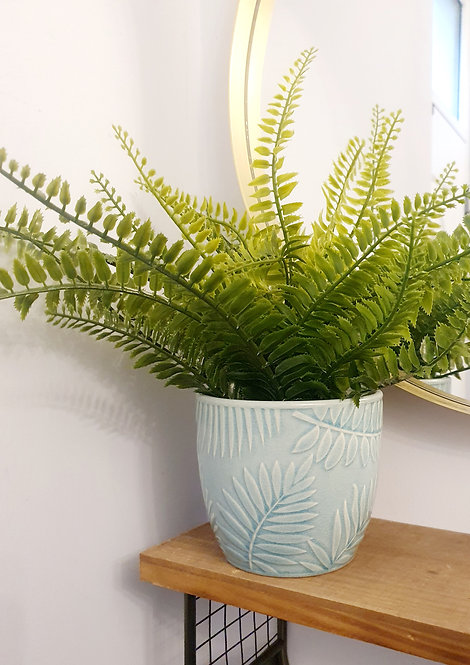 SMALL TROPICAL LEAF PLANTER