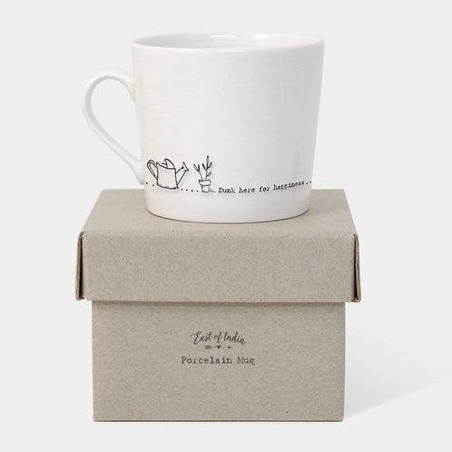 East Of India Wobbly mug-Dunk here for happiness