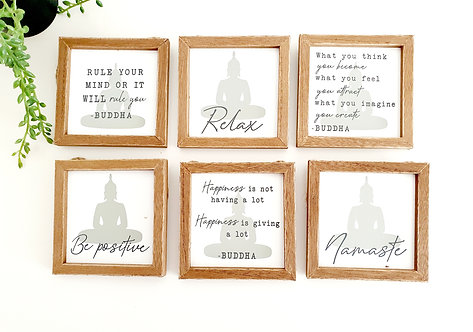 Assorted Buddha Hanging Plaque