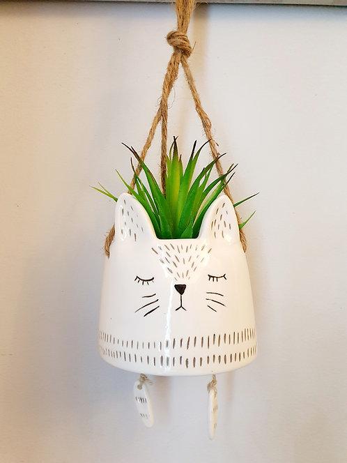 Hanging Cat Flowerpot