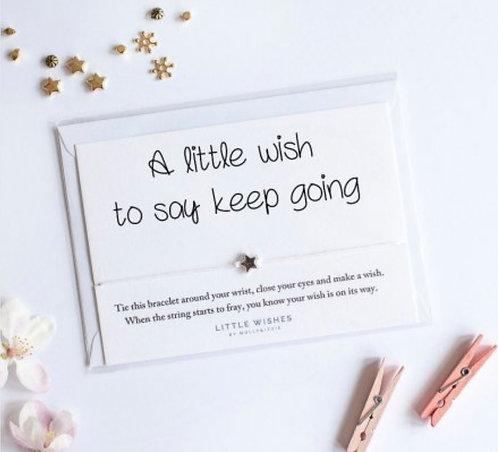 Keep Going Wish Bracelet