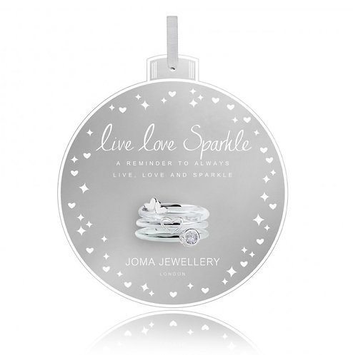 Joma Jewellery Live, Love Sparkle Ring Set