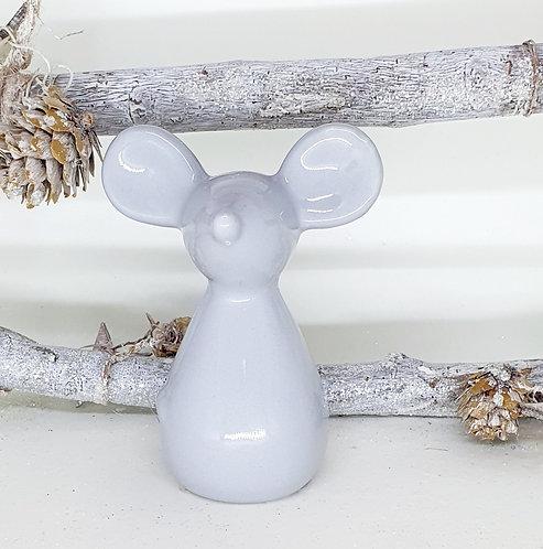 Grey Ceramic Mouse 10cm