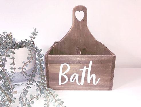 Wooden Bathroom Caddy