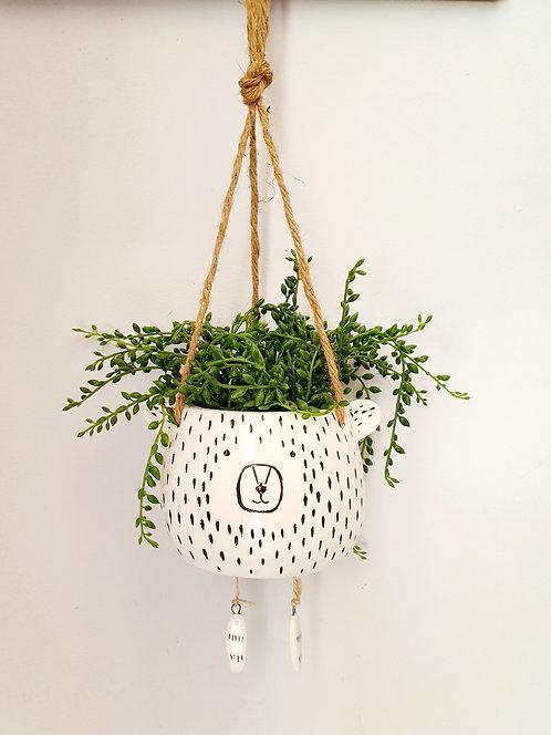Ceramic Hanging Bear Flowerpot