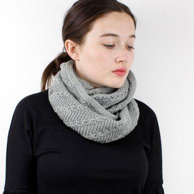 Grey Pattern Knit Snood