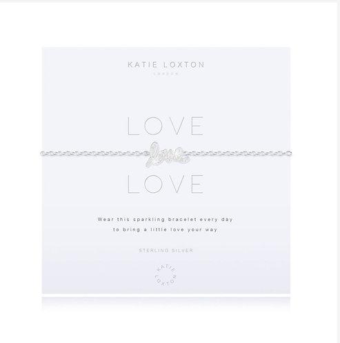 Katie Loxton Sterling Silver Love Bracelet