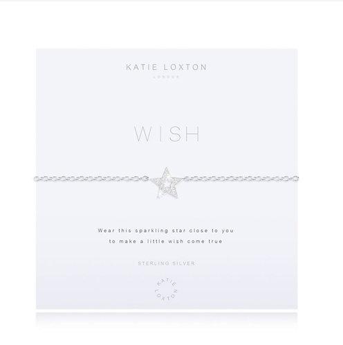 Katie Loxton Sterling Silver Wish Bracelet