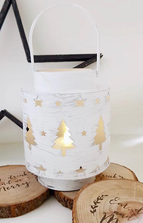 Metal Christmas Tree and Star Lantern