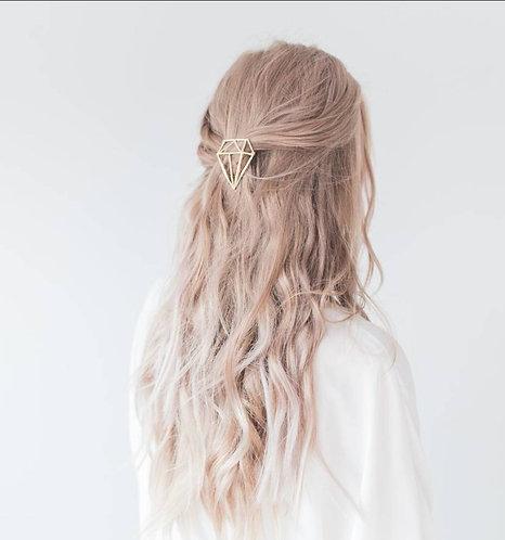 Geometric Gold Colour Hair Clip