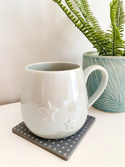 Embossed Stars Mug
