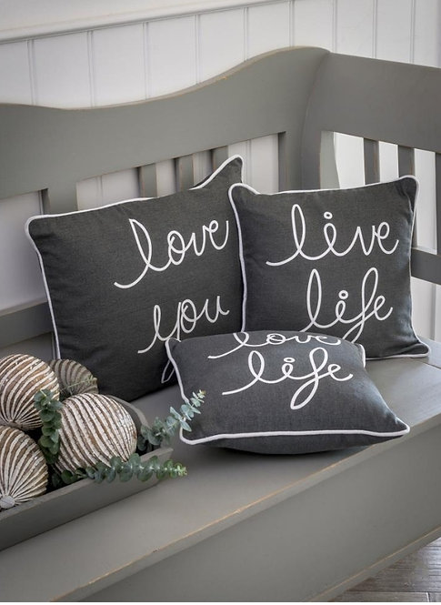 Assorted Grey Feather Filled Cushions