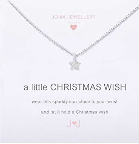 Joma jewellery Childrens A Little Christmas Wish Necklace