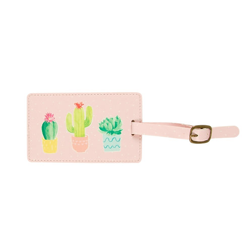 Sass & Belle Pastel Cactus Luggage Tag