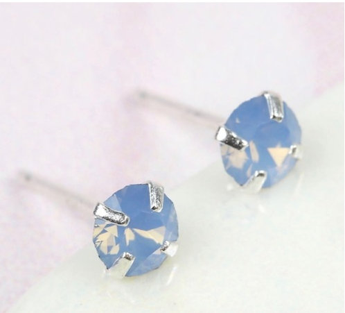 Air Blue Swarovski Crystal Stud Earring